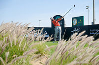 Joost Luiten (NED) on the 14th tee during the final round of  the Saudi International powered by Softbank Investment Advisers, Royal Greens G&CC, King Abdullah Economic City,  Saudi Arabia. 02/02/2020<br /> Picture: Golffile | Fran Caffrey<br /> <br /> <br /> All photo usage must carry mandatory copyright credit (© Golffile | Fran Caffrey)