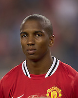 Manchester United FC forward Ashley Young (18). In a Herbalife World Football Challenge 2011 friendly match, Manchester United FC defeated the New England Revolution, 4-1, at Gillette Stadium on July 13, 2011.