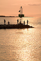 fishing, sunset, Menemsha, Marthas Vineyard, MA
