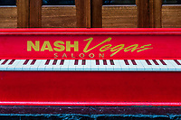 NashVegas Saloon piano sign, Nashville, Tennessee, USA.