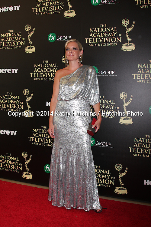 LOS ANGELES - JUN 22:  Maura West at the 2014 Daytime Emmy Awards Arrivals at the Beverly Hilton Hotel on June 22, 2014 in Beverly Hills, CA
