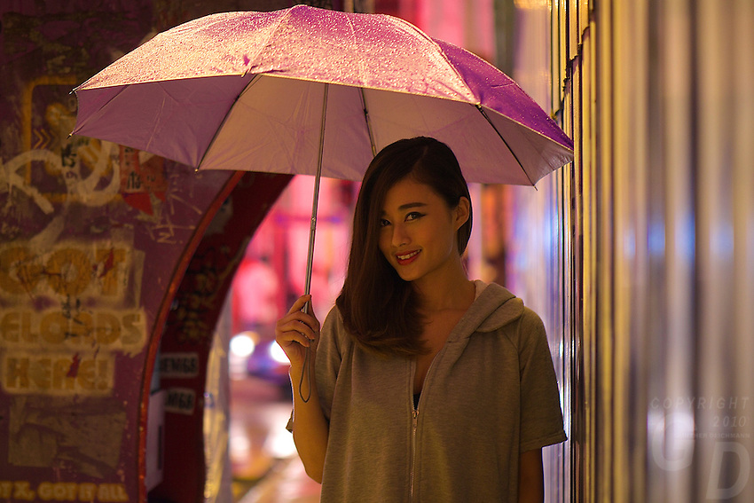 Pretty Malaysian Girl in China Town Kuala Lumpur