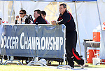 10 November 2010: Maryland head coach Sasho Cirovski. The University of Maryland Terrapins defeated the Clemson University Tigers 2-1 at Koka Booth Stadium at WakeMed Soccer Park in Cary, North Carolina in an ACC Men's Soccer Tournament Quarterfinal game.