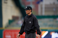 Umpire Jae-Young Kim during a Midwest League game between the Quad Cities River Bandits and Fort Wayne TinCaps at Parkview Field on May 3, 2019 in Fort Wayne, Indiana. Quad Cities defeated Fort Wayne 2-0. (Zachary Lucy/Four Seam Images)
