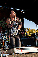 August Burns Red performs at Shoreline Amphitheater during the 2013 Vans Warped Tour in Mountain View, California.