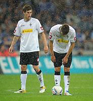 FUSSBALL   1. BUNDESLIGA   SAISON 2011/2012    4. SPIELTAG FC Schalke 04 - Borussia Moenchengladbach             28.08.2011 Havard NORDTVEIT (li) und Roman NEUSTAEDTER (re, beide Moenchengladbach) sind enttaeuscht