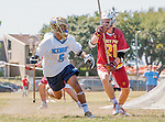Corona Del Mar, CA 04/02/16 - Sachin Gokhale (Corona Del Mar #5) and Caden Wolfson (Torrey Pines #21) in action during the non-conference game between the Nike/LM High School Boys' National Western Region #4 Torrey Pines (#4) and #5 Corona Del Mar.  Torrey Pines defeated Corona Del Mar 9-8 in overtime.