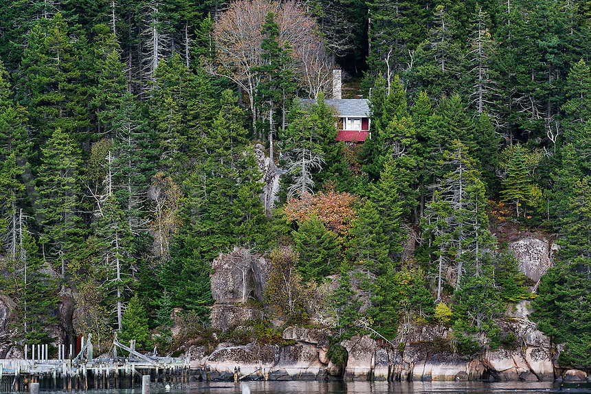 Secluded cabin, Deer Isle, Maine, USA