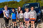 Wk33 At the the Glenbeigh/Glencar GAA Drive-In Bingo on Friday evening<br /> <br /> L-R Mary Costello, Charlie Foley, Kate Costello, Katie Foley, Grace Costello & Isabella O'Donoghue