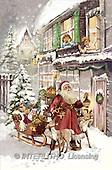 Interlitho, Patricia, CHRISTMAS SANTA, SNOWMAN, nostalgic, paintings, santa, sleigh, kids(KL5424,#X#) Weihnachten, nostalgisch, Navidad, nostálgico, illustrations, pinturas