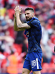 Olivier Giroud of Chelsea thanks the fans at the end of the FA cup semi-final match at Wembley Stadium, London. Picture date 22nd April, 2018. Picture credit should read: Robin Parker/Sportimage