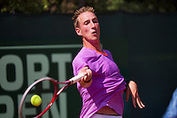 09-07-13, Netherlands, Scheveningen,  Mets, Tennis, Sport1 Open, day two,  Mark de Jong (NED)<br /> <br /> <br /> Photo: Henk Koster
