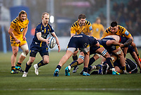 25th January 2020; Sixways Stadium, Worcester, Worcestershire, England; Premiership Rugby, Worcester Warriors versus Wasps; Michael Heaney of Worcester Warriors looks to kick the ball forward