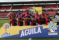 CÚCUTA- COLOMBIA, 17-08-2019:Formación del Cúcuta Deportivo.Acción de juego entre los equipos  Cúcuta Deportivo  y Jaguares de Córdoba  durante partido por la fecha 6 de la Liga Águila II  2019 jugado en el estadio General Santander de la ciudad de Cúcuta . /Team of Cucuta Deportivo. Action game between Cucuta Deportivo and Jaguares of Cordoba  during the match for the date 6 of the Liga Aguila II 2019 played at the General Santander  stadium in Cucuta  city. Photo: VizzorImage / Manuel Hernández  / Contribuidor