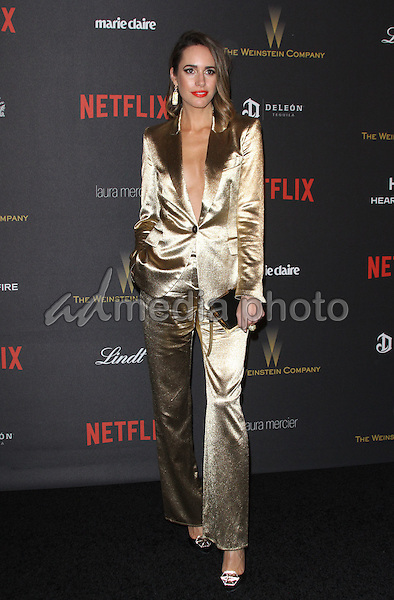 10 January 2016 - Los Angeles, California - Louise Roe. 2016 Weinstein Company & Netflix Golden Gloves After Party held at the Beverly Hilton Hotel. Photo Credit: AdMedia