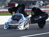 Sep 2, 2018; Clermont, IN, USA; NHRA funny car driver Shawn Langdon during qualifying for the US Nationals at Lucas Oil Raceway. Mandatory Credit: Mark J. Rebilas-USA TODAY Sports