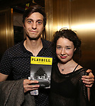 Gideon Glick and Sarah Steele attend Broadway's 'Boys in the Band' hosted Midnight Performance of 'Three Tall Women' to Honor Director Joe Mantello at the Golden Theatre on May 17, 2018 in New York City.