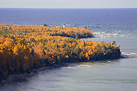 Au Sable Pt lighthouse lighthouses in the Upper Peninsula of Michigan