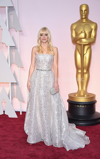 WWW.ACEPIXS.COM<br /> <br /> February 22 2015, LA<br /> <br /> Actress Anna Faris arriving at the 87th Annual Academy Awards at Hollywood &amp; Highland Center on February 22, 2015 in Hollywood, California<br /> <br /> <br /> By Line: Z15/ACE Pictures<br /> <br /> <br /> ACE Pictures, Inc.<br /> tel: 646 769 0430<br /> Email: info@acepixs.com<br /> www.acepixs.com