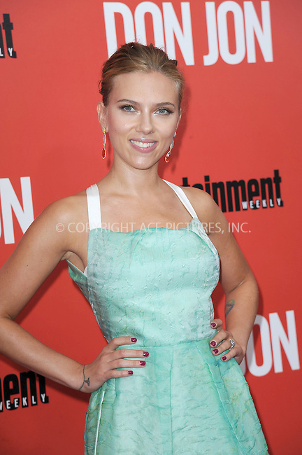WWW.ACEPIXS.COM<br /> September 12, 2013...New York City<br /> <br /> Scarlett Johansson attends 'Don Jon' New York Premiere at SVA Theater on September 12, 2013 in New York City.<br /> <br /> Please byline: Kristin Callahan/Ace Pictures<br /> <br /> Ace Pictures, Inc: ..tel: (212) 243 8787 or (646) 769 0430..e-mail: info@acepixs.com..web: http://www.acepixs.com