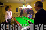 Blennerville Horse Trainer Tommy Cooper palys pool in Quanes bar in Blennerville with Dunlin publican and part owner Charlie Chawke Paddydeplasterer took the Arkle Chase