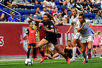 HARRISON, NJ - SEPTEMBER 29: Elizabeth Eddy #19 of Sky Blue FC during a game between Orlando Pride and Sky Blue FC at Red Bull Arena on September 29, 2019 in Harrison, New Jersey.