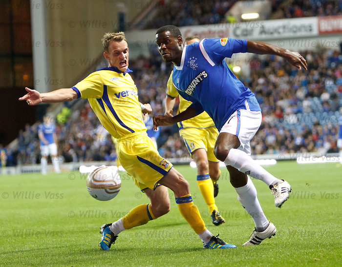 Dean Shiels and Maurice Edu