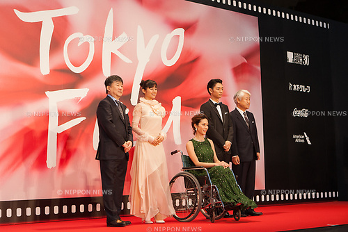 Midnight Bus appears on the opening red carpet for The 30th Tokyo International Film Festival in Roppongi on October 25th, 2017, in Tokyo, Japan. The festival runs from October 25th to November 3rd at venues in Tokyo. (Photo by Michael Steinebach/AFLO)