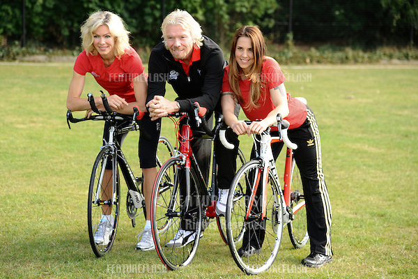 Nell McAndrew, Richard Branson and Melanie C.at the launch of the Virgin Active London Triathlon celebrity team, Acton, London. 07/06/2011  Picture by: Steve Vas / Featureflash