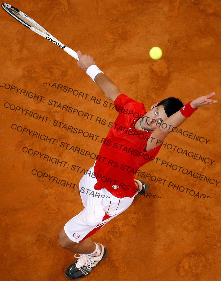 Tenis, Davis Cup 2010.Serbia Vs. USA.Novak Djokovic (SRB) Vs. Sam Querrey (USA).Davis Cup.Belgrade, 05.03.2010..foto: Srdjan Stevanovic/Starsportphoto ©