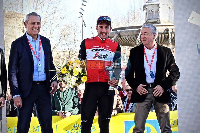 John Degenkolb (GER) Trek-Segafredo wins Stage 4 of the 2019 Tour de La Provence, running 173.3km from Avignon to Aix-en-Provence, France. 17th February 2019.<br /> Picture: SHIFT Active Media | Cyclefile<br /> <br /> <br /> All photos usage must carry mandatory copyright credit (© Cyclefile | SHIFT Active Media)