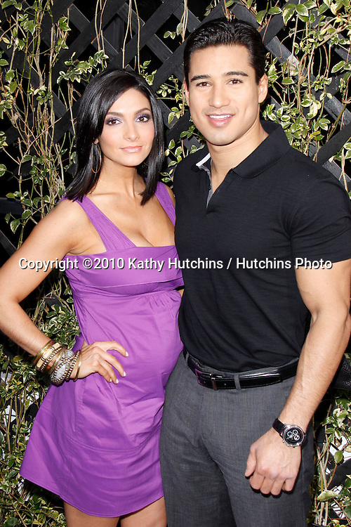 Mario Lopez and Courtney Mazza.Eva by Eva Longoria Parker Fragrance Launch Party.Beso Hollywood.Hollywood, CA.April 27, 2010.©2010 Hutchins Photo....