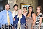 Sean, Norma, Noreen O'Donoghue, Bridie Doona, Marlene O'Donoghue and Sarah O'Toole raising money at the Multiple Sclerosis coffee morning in the Ross Hotel Killarney on Friday