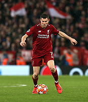 Liverpool's James Milner<br /> <br /> Photographer Rich Linley/CameraSport<br /> <br /> UEFA Champions League Round of 16 First Leg - Liverpool and Bayern Munich - Tuesday 19th February 2019 - Anfield - Liverpool<br />  <br /> World Copyright © 2018 CameraSport. All rights reserved. 43 Linden Ave. Countesthorpe. Leicester. England. LE8 5PG - Tel: +44 (0) 116 277 4147 - admin@camerasport.com - www.camerasport.com