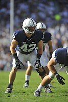 15 September 2012:  Penn State LB Michael Mauti (42)..The Penn State Nittany Lions defeated the Navy Midshipmen 34-7 at Beaver Stadium in State College, PA..