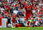 Liverpool's Dejan Lovren in action during the premier league match at Anfield Stadium, Liverpool. Picture date 27th August 2017. Picture credit should read: Paul Thomas/Sportimage