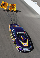 Feb. 19, 2012; Chandler, AZ, USA; NHRA pro stock driver Vincent Nobile during the Arizona Nationals at Firebird International Raceway. Mandatory Credit: Mark J. Rebilas-