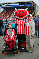 Lincoln City fans enjoy the pre-match atmosphere<br /> <br /> Photographer Chris Vaughan/CameraSport<br /> <br /> The EFL Sky Bet League Two - Lincoln City v Macclesfield Town - Saturday 30th March 2019 - Sincil Bank - Lincoln<br /> <br /> World Copyright © 2019 CameraSport. All rights reserved. 43 Linden Ave. Countesthorpe. Leicester. England. LE8 5PG - Tel: +44 (0) 116 277 4147 - admin@camerasport.com - www.camerasport.com