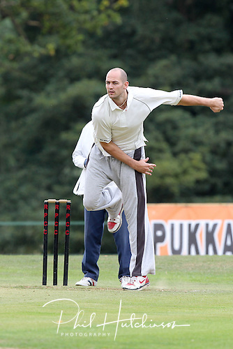 BARRY LAMBLE of Leicester Riders Basketball Team ..... SEPT 2011 ..... ALL-STARS CHARITY CRICKET ..... Rothley Park CC