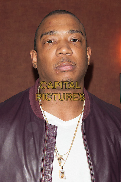 Jeffrey 'Ja Rule' Atkins <br /> attends the  screening of 'I'm in Love with a Church Girl' at Regal E-Walk Stadium 13 and RPX  Cinemas,  New York City, NY., USA.<br /> October 18th, 2013<br /> headshot portrait goatee facial hair white top gold necklace maroon leather jacket<br /> CAP/MPI/COR<br /> &copy;Corredor99/ MediaPunch/Capital Pictures
