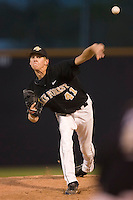 Relief pitcher Mark Adzick #41 of the Wake Forest Demon Deacons in action at Wake Forest Baseball Park April 18, 2009 in Winston-Salem, NC. (Photo by Brian Westerholt / Four Seam Images)