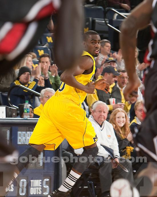 University of Michigan men's basketball team beat Bradley 77-66 at Crisler Arena in Ann Arbor, Mich., on December 22, 2011.