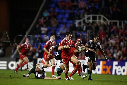 09.10.2010 Heinekin Cup Rugby from the Madejski Stadium London Irish v Munster.