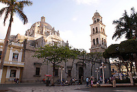 he 18th-century cathedral on the zocalo or Plaza de Armas in the port of Veracruz, Mexico
