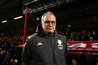 11th February 2020; Griffin Park, London, England; English Championship Football, Brentford FC versus Leeds United; Leeds United Manager Marcelo Bielsa looks on from the touchline