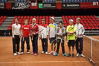 The Netherlands, Den Bosch, 16.04.2014. Fed Cup Netherlands-Japan, <br /> Photo:Tennisimages/Henk Koster