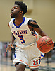 Michael James #3 of Malverne eyes the hoop during the Nassau County varsity boys basketball Class B semifinals against Wheatley at Farmingdale State College on Sunday, Feb. 18, 2018. Malverne won by a score of 67-38.
