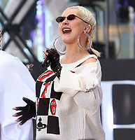 Christina Aguilera<br /> performing on NBC ''Today Show'' <br /> at Rockefeller Plaza  6-15-2018<br /> Maggie Wilson/PHOTOlink.net