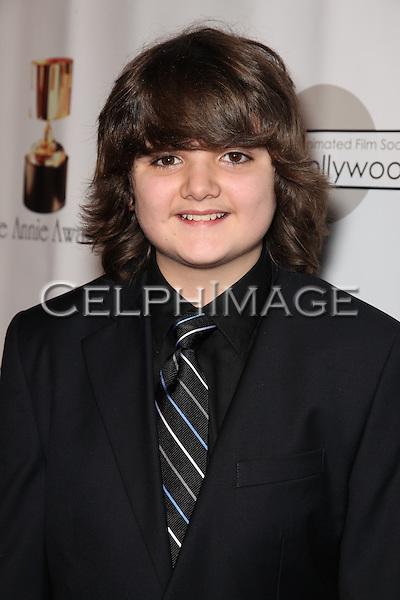 NICKY JONES. Red Carpet arrivals to the 37th Annual Annie Awards Gala at Royce Hall on the UCLA campus. Los Angeles, CA, USA. February 6, 2010.