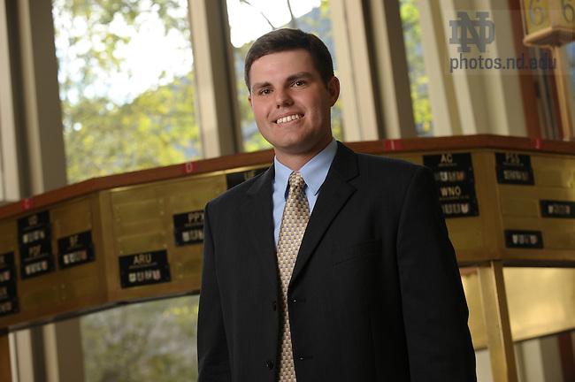 MBA Student Michael Hurley for the Spirit Newsletter..Photo by Matt Cashore/University of Notre Dame